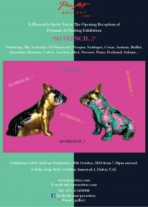 So French exhibition e-invite 150