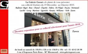 QUENTELO Galerie GAVART EXPO 19 dec 2 janv 2019